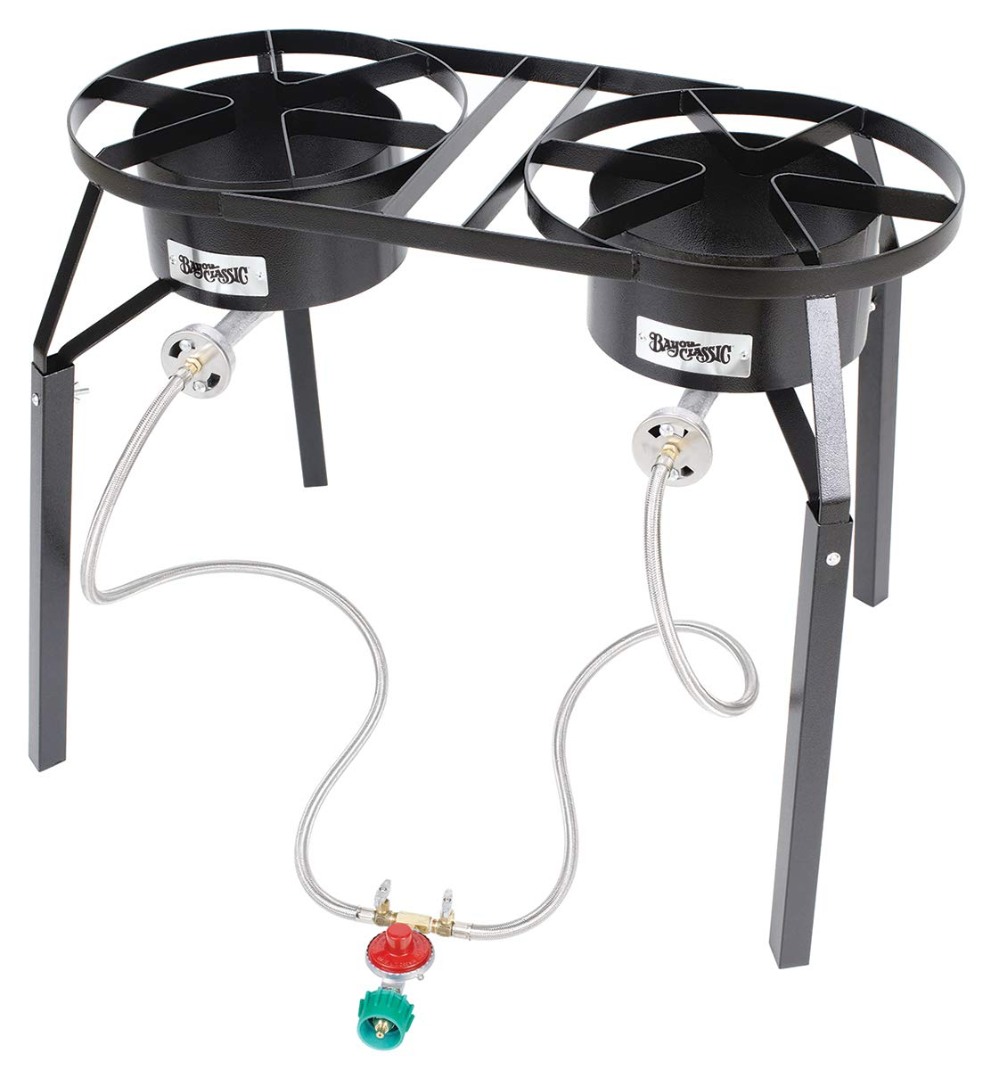 Bayou Classic DB250 Double Burner High-Pressure Cooker with Extension Legs by Bayou Classic
