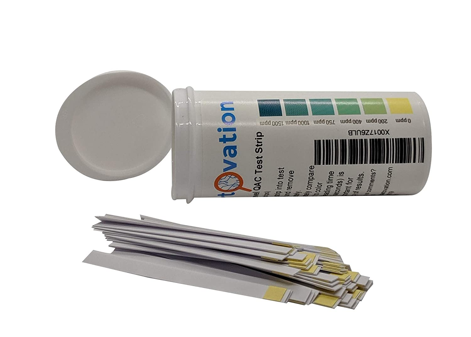 Vial of Plastic Test Strips for High Level Quaternary Ammonium 750 Sanitizer Test KIT 200 1000 QAC 1500 ppm Vivid Color Indicators 400 Use with Steramine /& Other Quaternary Sanitizers 0