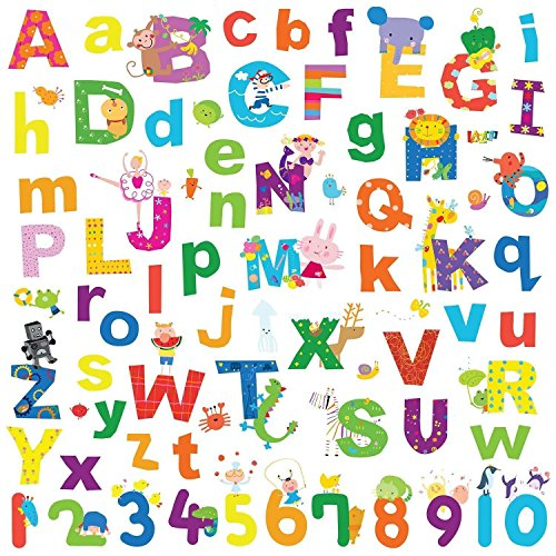 Alphabet Letters Decals Numbers Stickers