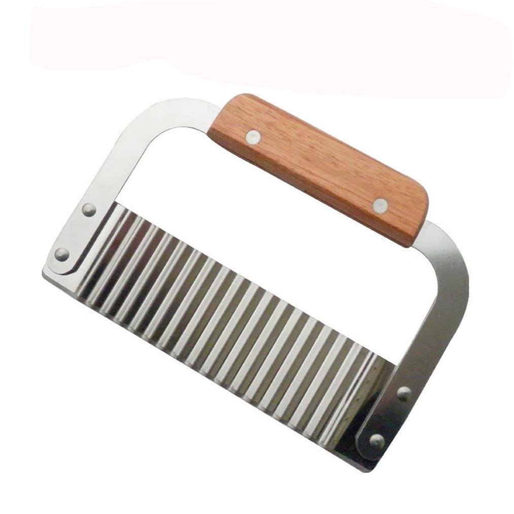 Bomdes Potato Chip Vegetable Crinkle Wavy Cutter Blade Tool Fry Fries Hand Chipper Tool Hao Tech
