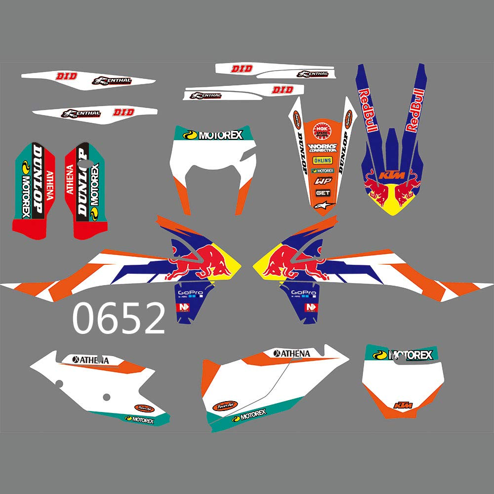 DST0652 3M Customized Motorcross Graphics Motorcycle Decals Stickers Kit Fit for KTM EXC XCF XCW 2017-2019 /& KTM SX SXF XC XCF 2016-2018