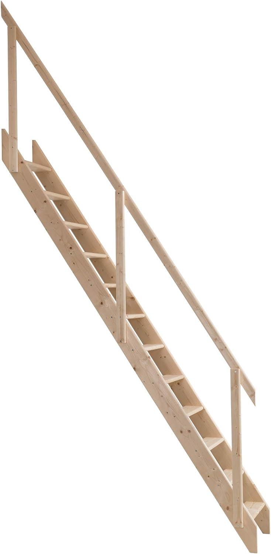 Escalera Madrid de madera, ahorra espacio (Escalera para desván), completo con juego de gancho y barra, Dolle: Amazon.es: Bricolaje y herramientas