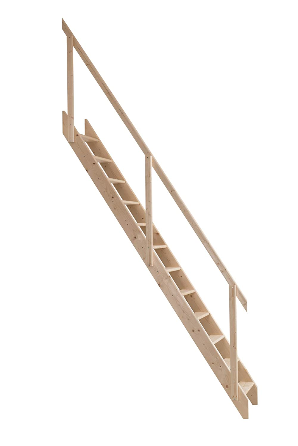 Dolle Madrid Wooden Space Saver Staircase (Loft Stair) c/w Hook & Bar Set