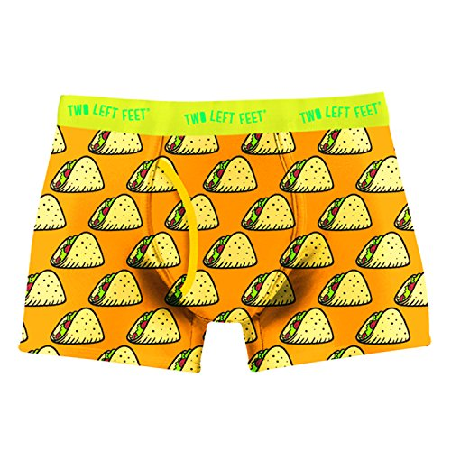 Two Left Feet Mens Boxer Brief Underwear, Taco Tuesday X-Large