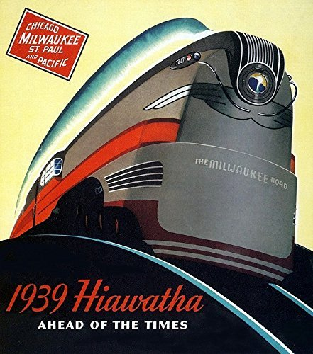 Milwaukee Road Hiawatha Train Railroad Poster 13 X 19 1930s Art Deco photo Vintage Advertising
