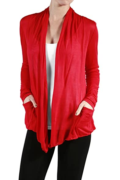 Plus Size Red Sheer Cardigan -Size: 2X Color Red at Amazon Women's ...