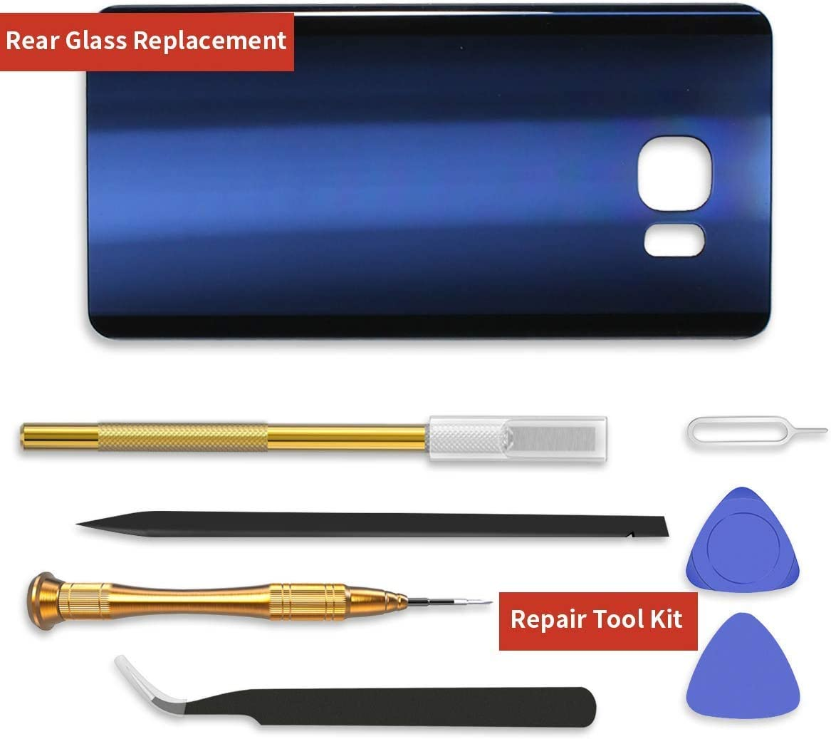 24-Month Warranty Blue 2600mAh 0 Cycle Battery Replacement for Samsung Galaxy S6e YONTEX Galaxy S6 Edge Battery with Back Glass Replacement and 1 Complete Repair Tool Kit