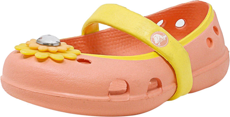 Crocs Keeley Petal Charm Flat Melon/Sunshine Ankle-High Shoe - 11M