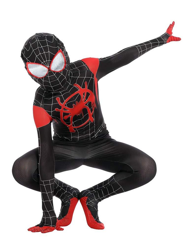 Reshiny Spandex Boys Superhero Zentai Suit Lycra Bodysuit 3D Costume Kids M