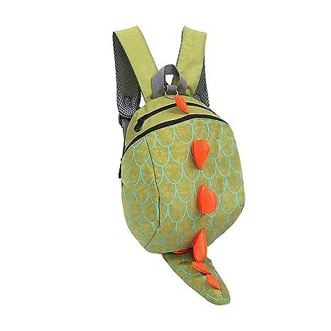 Amazon.com   Dinosaur Backpack Kids Toddler Child Cute Zoo Waterproof 3D  Cartoon School Bag Kindergarten Animal Backpack For 2-8y (Green)   Kids   Backpacks 5745220d40