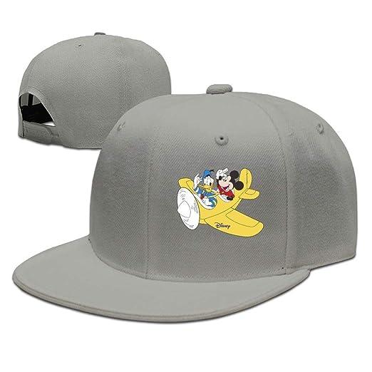 Aiguan Donald Duck and Mickey Flat Visor Baseball Cap 4feb88b2c3b