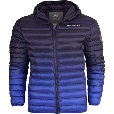 2690898b55a8 Crosshatch Mens Quilted Padded Hooded Puffer Jacket Winter Insulated ...