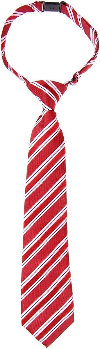 Cravatta da ragazzo pre-legata in microfibra con motivo a righe Preppy