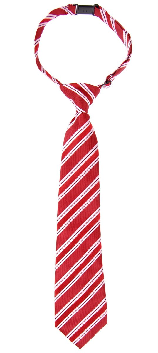 Preppy Stripe Pattern Woven Microfiber Pre-tied Boy's Tie - Various Colors