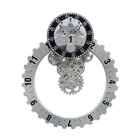 Jack Mall Plastique Ménages Horloge Murale Tendance Créative Horloge Simple électronique Créative Horloge Murale Engrenage Horloge Mécanique Couleur