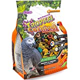 Tropical Carnival F.M. Brown's Zoo-Vital Parrot & Conure Pellet Daily Diet with Probiotics for Healthy Digestion, 2.75-lb Bag - Grain-Free, Rice-Based Formula, 100% Edible, Prevents Selective Eating