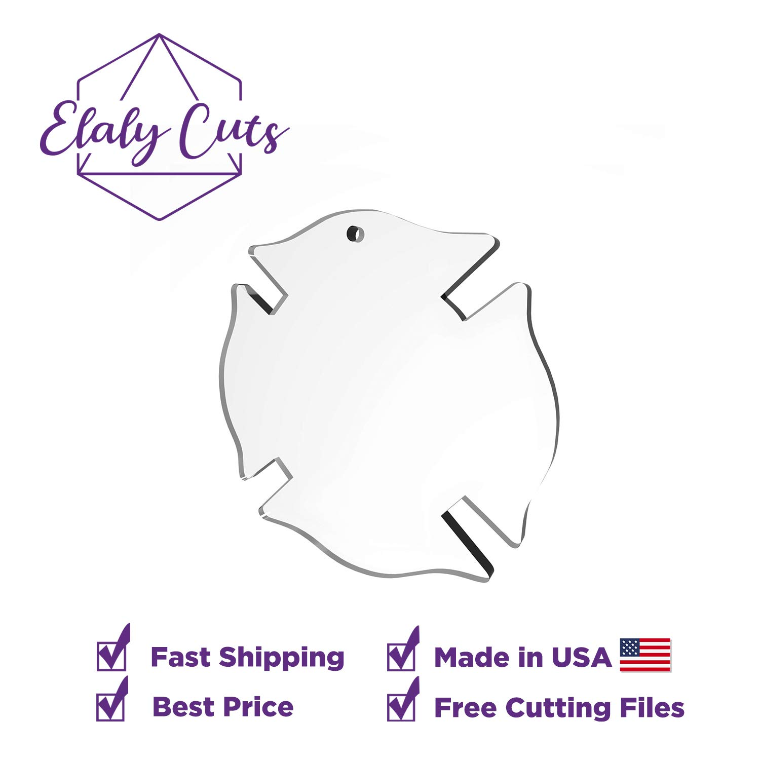 and DIY Crafts Laser Cut Clear Blanks for Vinyl Projects Includes Free SVG Files Blank Keychains Firefighter Symbol Blanks Acrylic Ornaments