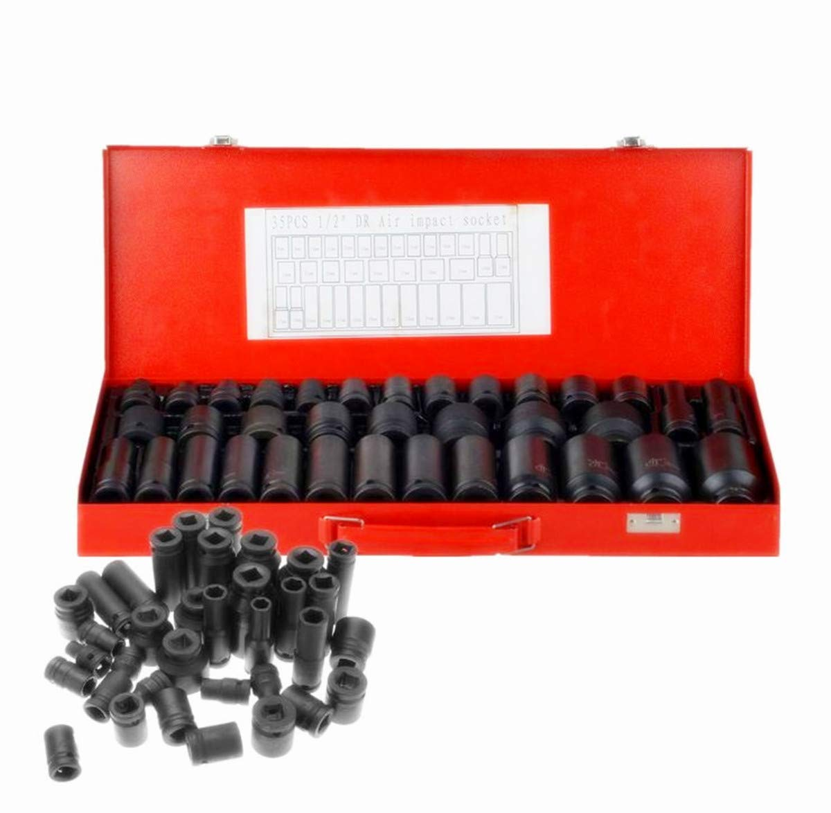 1//4-Inch Drive Shallow Impact Socket 6-point Cr-v Metric 19mm 2 pieces
