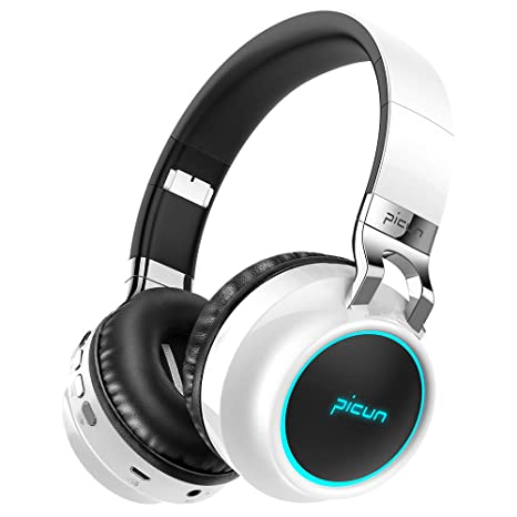 8ef2a92b26c Picun Bluetooth Wireless Headphones LED Portable Bluetooth Headsets Support  7 Colors Lights 20 Hour Playtime TF