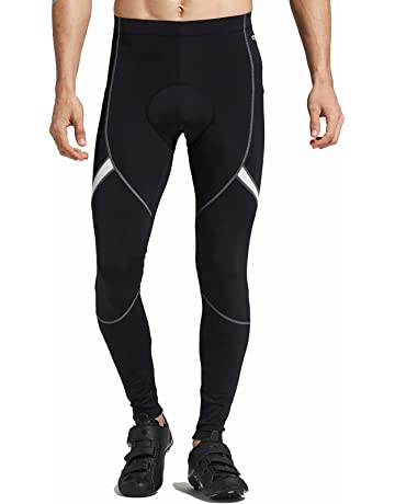 45e6ea1fcc Santic Men's Cycling Bike Pants 4D Padded Long Bicycle Compression Tights  Breathable Trousers