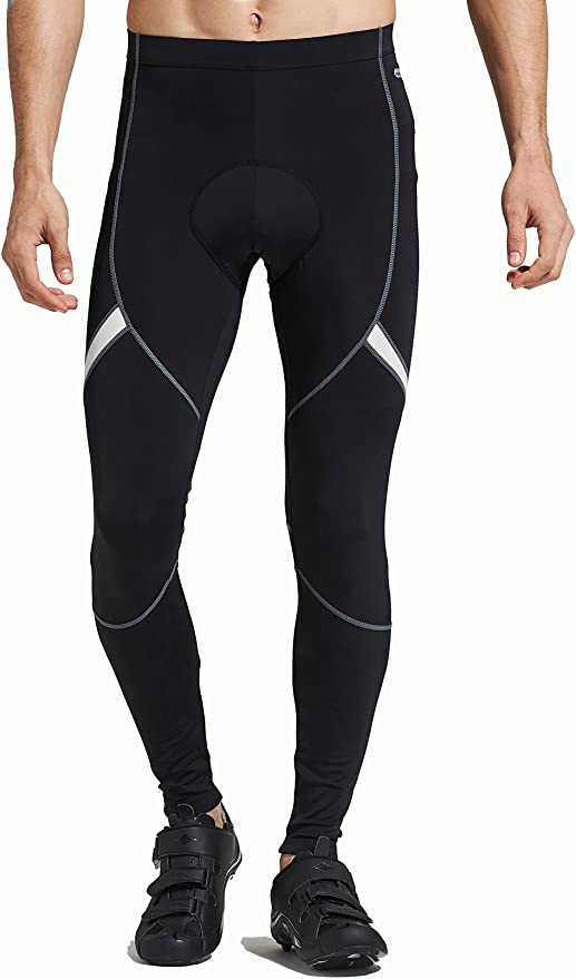 INBIKE Mens Cycling Compression Tights Trousers Mens Mountain Bike Pants Padded Bicycle Cycle Leggings for Men Breathable Elasticity Women