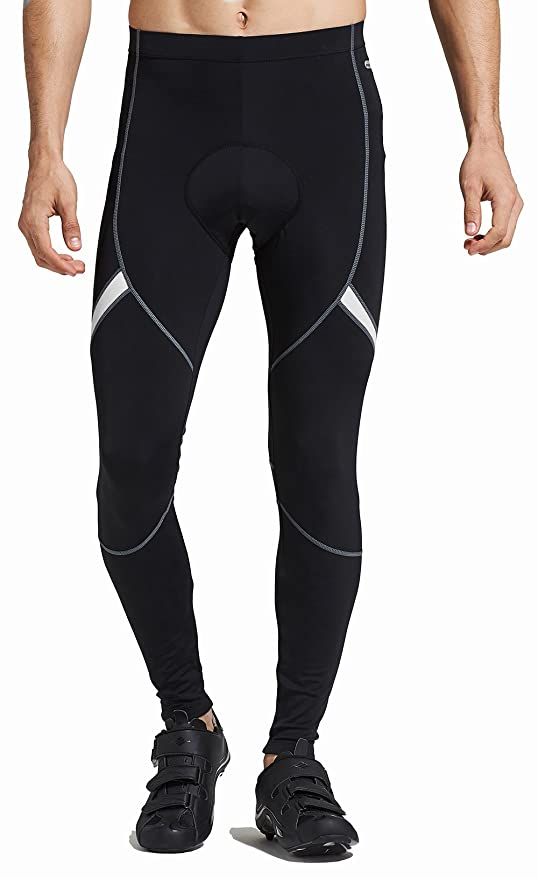 Santic Men s Cycling Bike Pants 4D Padded Long Bicycle Compression Tights  Breathable Trousers e7890da5ced7