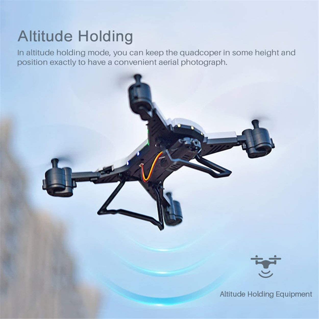 RC Drones 4CH FPV Quadcopter with 30W Camera,Altitude Hold,Gravity Sensor one Key take Off//Landing,Adjustable Speed,3D flip,Headless Mode,one Key Return,Battery Protection Three Batteries