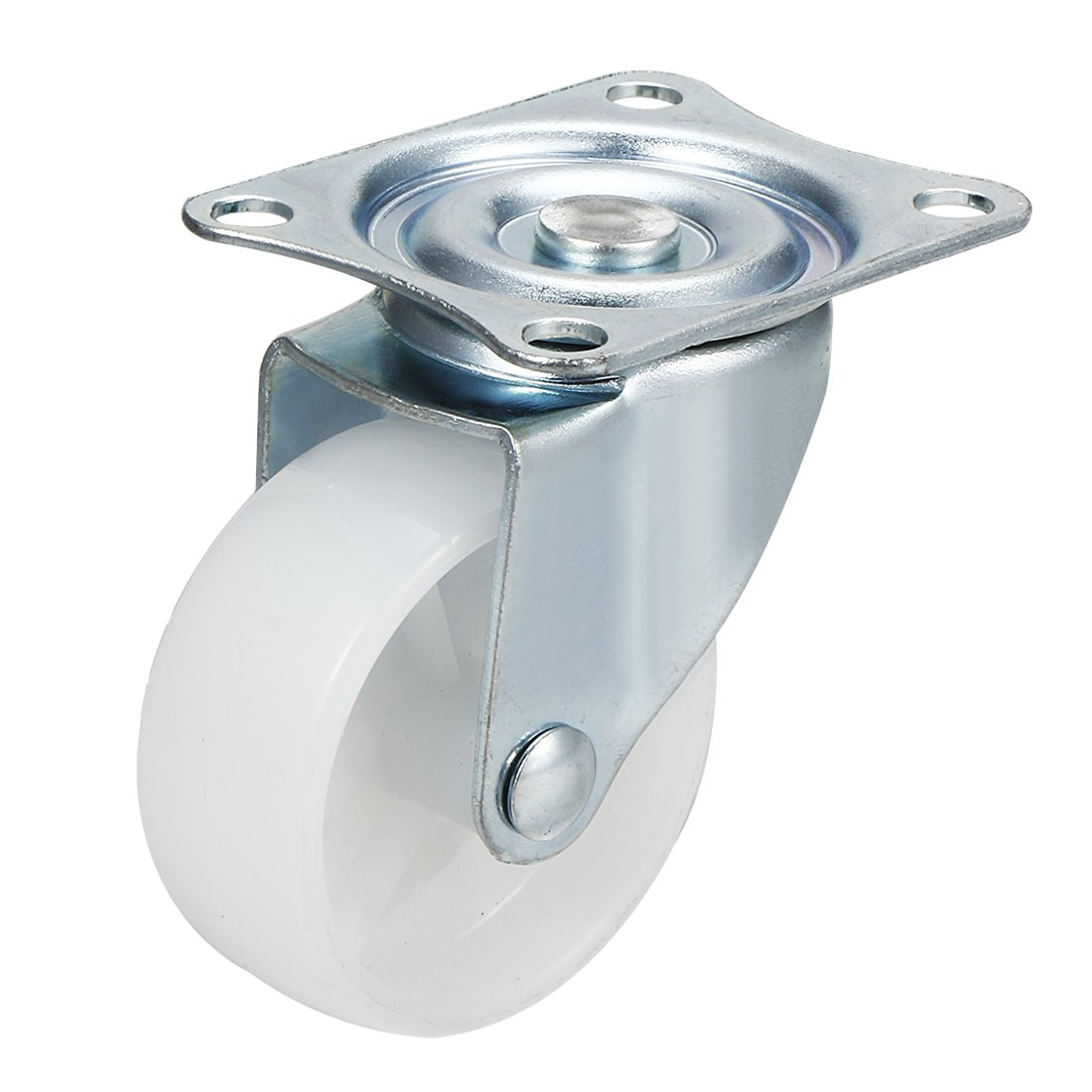 uxcell 2 Inch Swivel Casters Wheels PP Plastic Wheel Top Plate Mounted 66lb Load Capacity White
