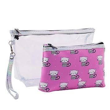 374add56d4 Amazon.com   Langbowan Multifunction Cosmetic Bag Portable Makeup Bag  Waterproof Wash Bag Color Pink 1 Pc   Beauty