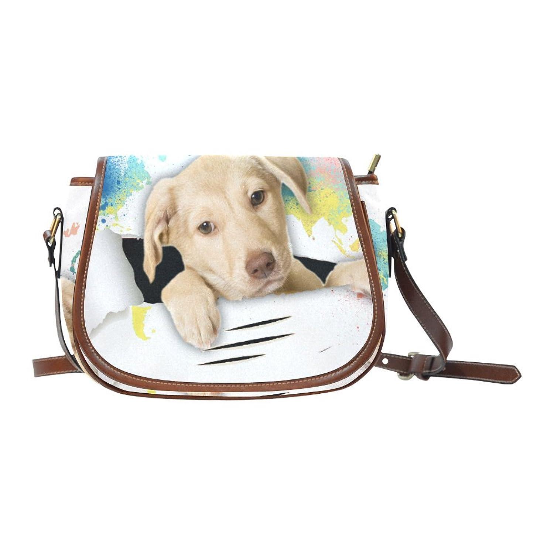 InterestPrint Custom Animal Pug Saddle Bag/Shoulder Bag/for Women Girls