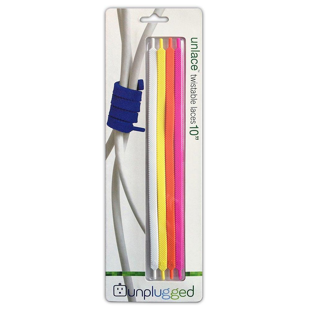 UnpluggedGoods Unlace Twistable Lace, 10-Inch, Citrus