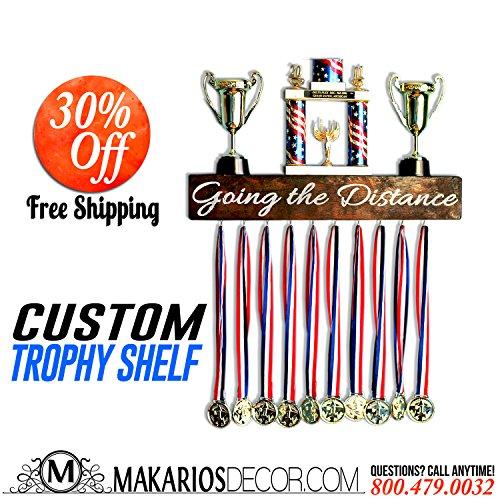 Running medal awards, medal holder, medal display, medal rack, medal hanger, soccer medal holder, trophy shelf, trophy display - Foot Rack