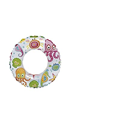 """Intex, Recreation 59230EP Lively Print Swim Ring 20"""", Assorted Designs, Multi: Toys & Games"""