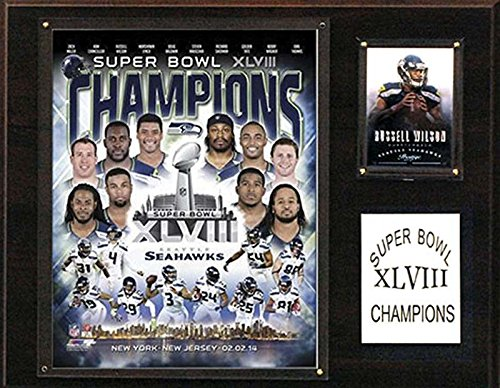 C&I Collectables NFL Seattle Seahawks Super Bowl XLVIII Champions Plaque by C&I Collectables