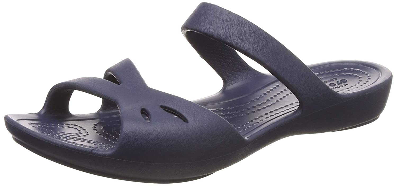 6ae1da1fb6c4 crocs Women s Kelli Sandal W Navy Fashion W7 (203991-410)  Buy Online at  Low Prices in India - Amazon.in