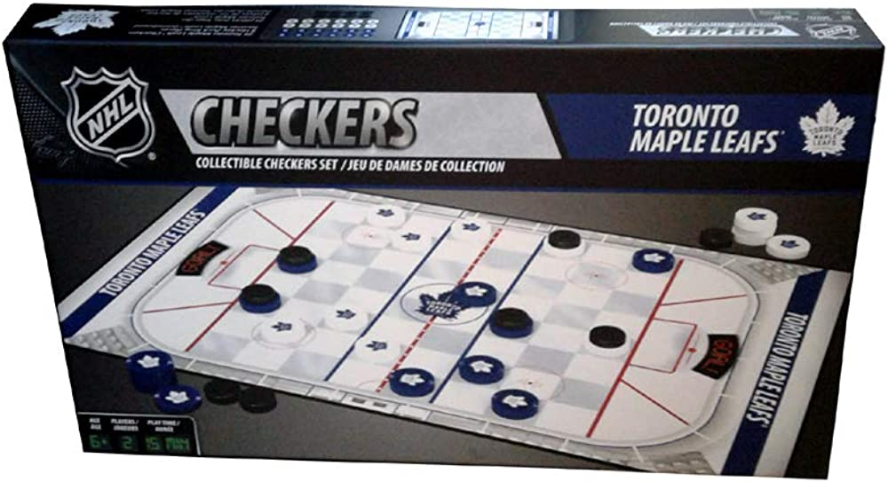 MasterPieces NHL Toronto Maple Leafs Checkers Board Game : Clothing