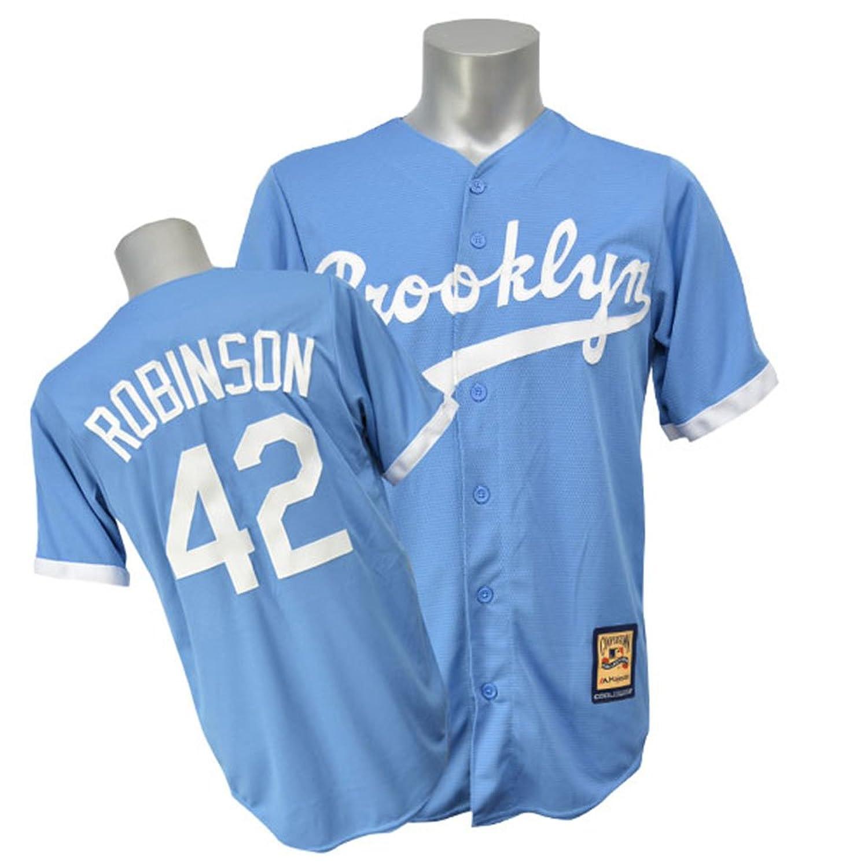 Majestic(マジェスティック) MLB ドジャース #42 ジャッキーロビンソン Cool Base Cooperstown ユニフォーム (オルタネート) B00UOG0CUI M