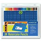 Staedtler 156-sb24cs Ergosoft Watercolor Pencil - 3 Mm Lead Size - Assorted Lead - 24 / Set by Staedtler