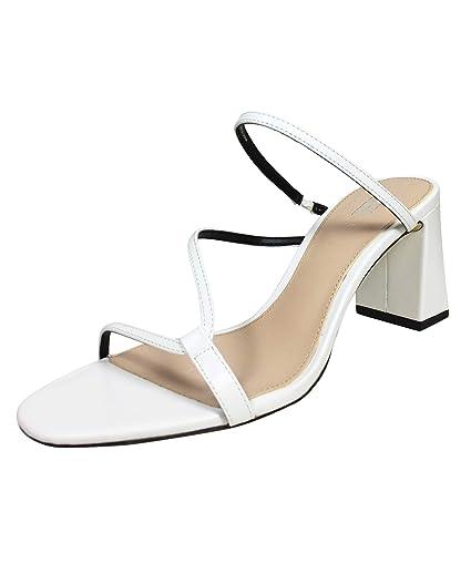 Amazon.com  Zara Women Strappy block heel mules 1360 001  Clothing