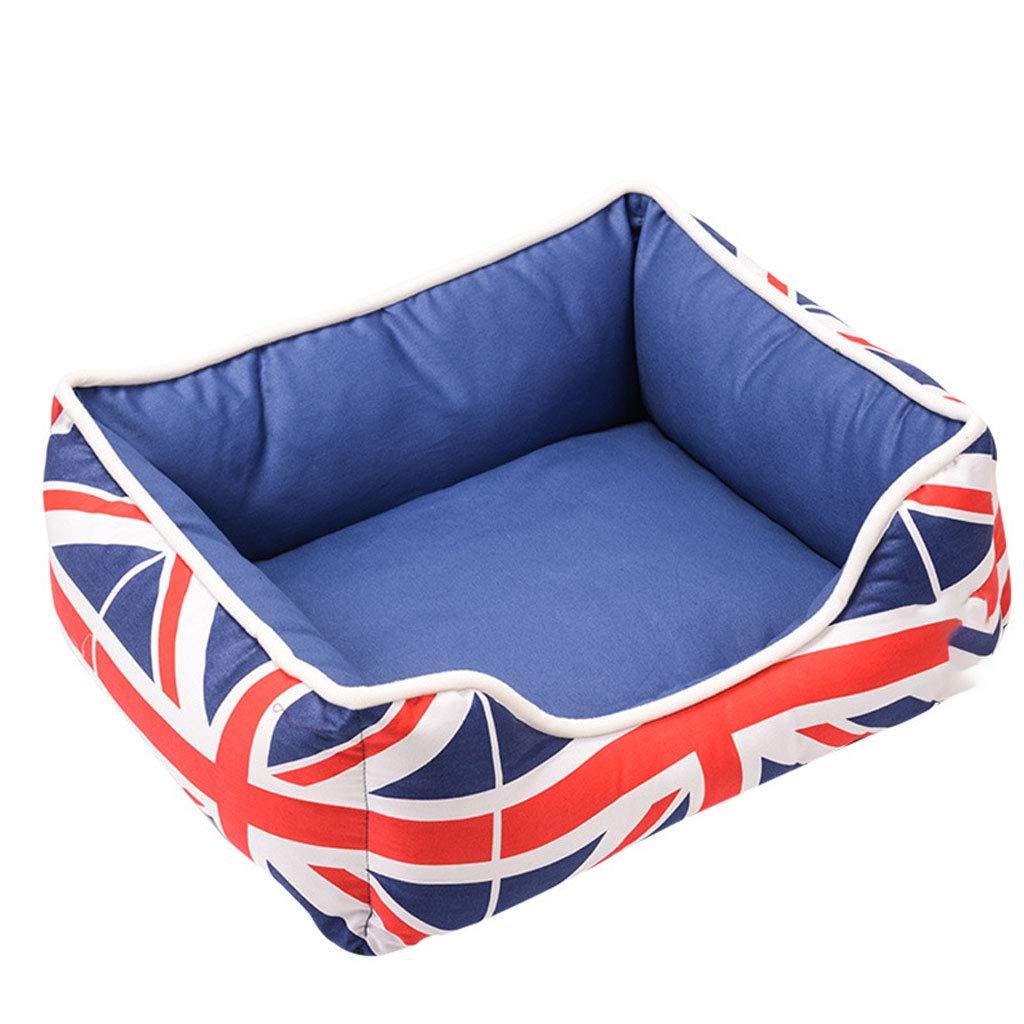 bluee XS bluee XS LJM- Pet Bed,Self-Warming Pet Bed Small Medium Dog Cat Plush Rectangle Nest Puppy Sleeping Bag Cushion (color   bluee, Size   XS)