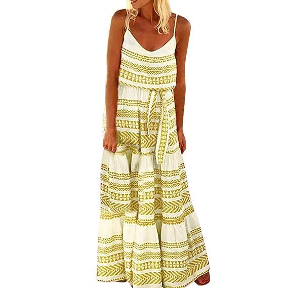 MERICAL Vestidos Mujer Casual Playa Largos Verano Tie Dye Vestido ...