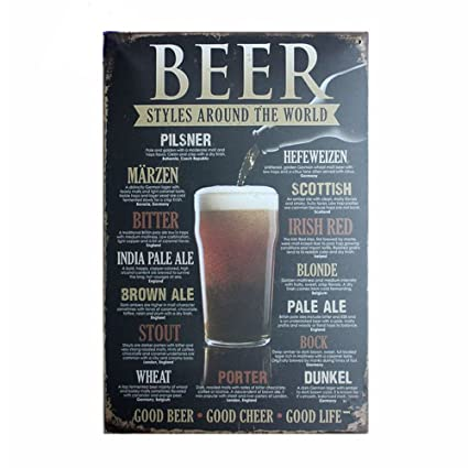 Amazon Com Retro Signs Decoratie Vintage Home Decor Beer Styles