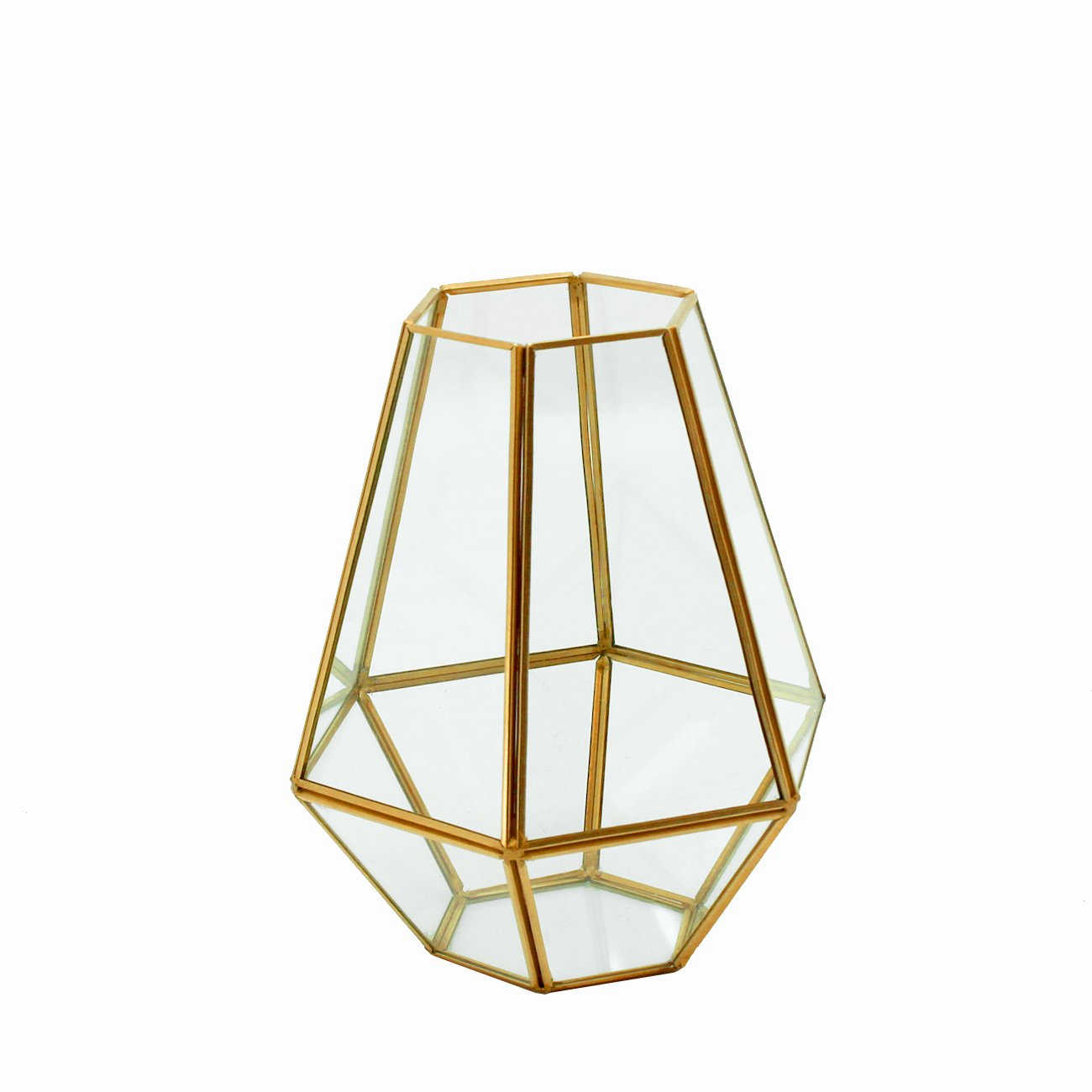 Torre & Tagus 902409A ORO Hexagon Glass Hurricane-Short