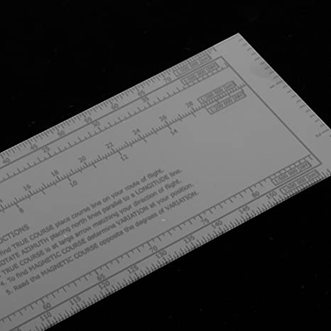 Gazechimp 13.2 x 2.4 Pulgada Plotter de Vuelo Rotatorio de Plástico Carta Aeronáutica para Trazado Navegación Suministros: Amazon.es: Jardín