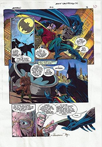 BATMAN COMICS #512 PRODUCTION ART ORIGINAL PAGE #8 SIGNED ADRIENNE ROY