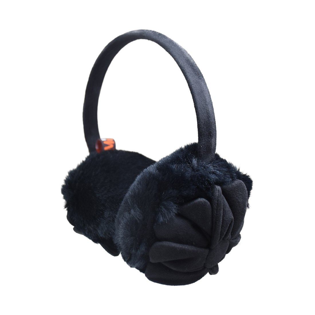 Girls Adjustable Earmuff With Suede Flower