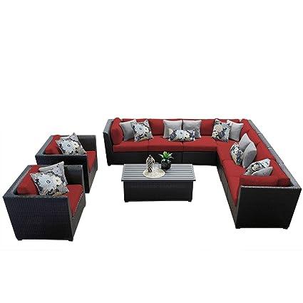 Amazon.com: TK Classics 10 piezas Barbados Muebles de mimbre ...