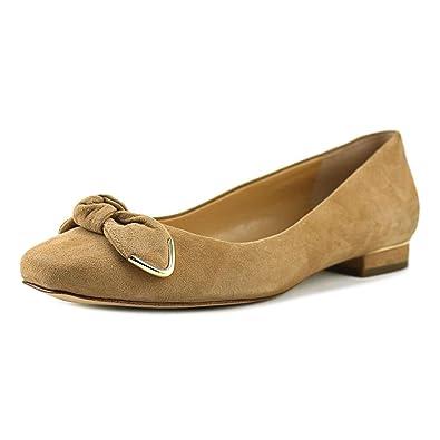 6ec295018775 Michael Michael Kors Womens Liza Ballet Leather Square Toe Ballet Flats   Amazon.co.uk  Shoes   Bags