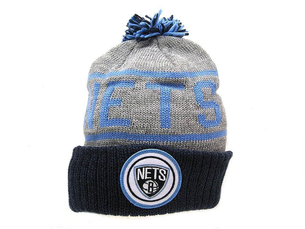 cheaper 362dd e1db0 Mitchell   Ness Men s NBA Brooklyn Nets Crackle Pom Beanie, Black White at  Amazon Men s Clothing store