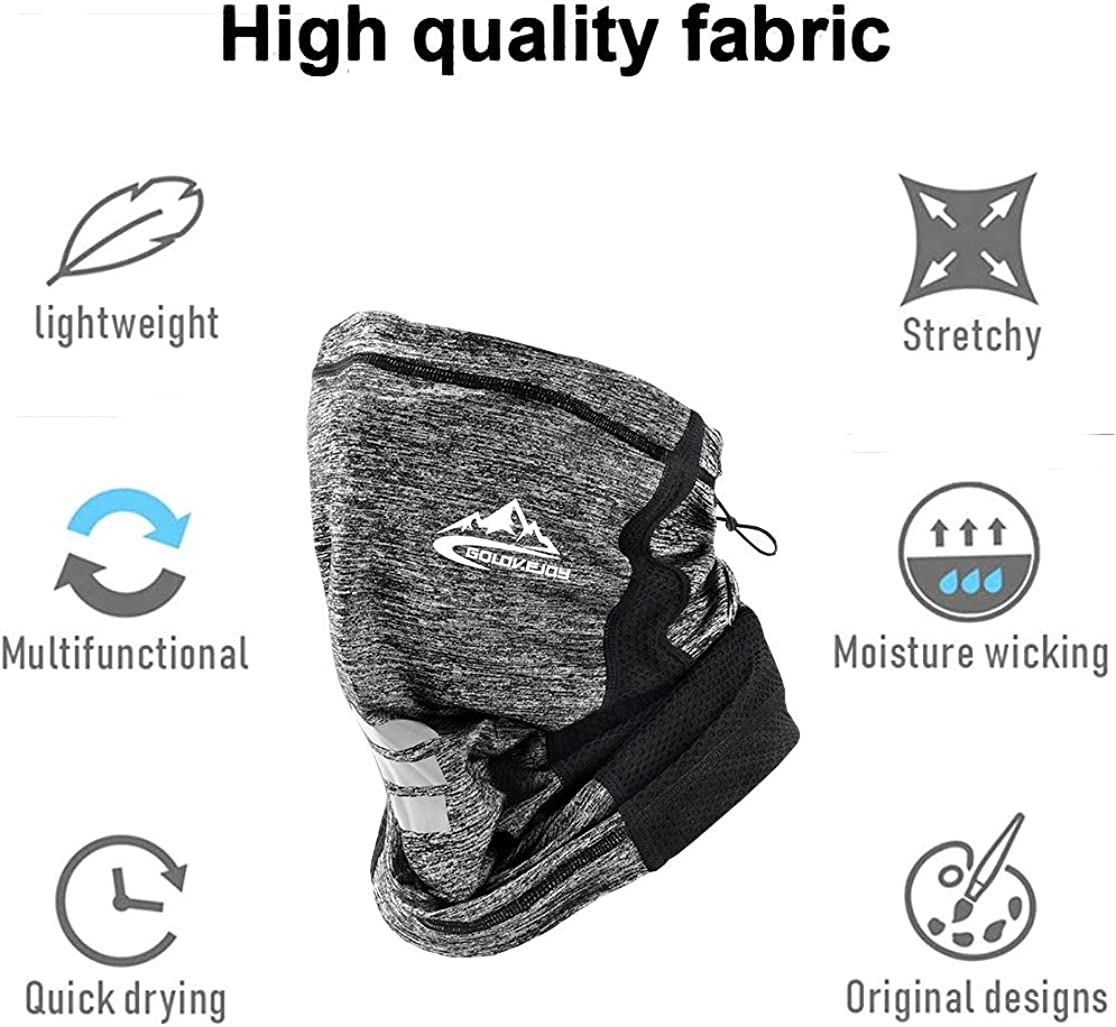 DAVIDLEE Summer Balaclava Face Mask Neck Gaiter Dust Wind UV Sun Scarf Cycling Motorcycle Bandana for Women Men